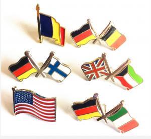 Best DF Custom Lapel Pins No Minimum Order National Flag American Flag Double Flags wholesale