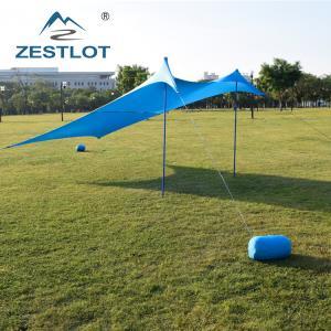 Best Outdoor 2 Steel Poles Lycra Camping Sun Shelter wholesale