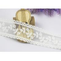 Best Scalloped Floral Embroidery Cotton Nylon Lace Trim For Ivory Lace Wedding Dress wholesale