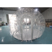 Best 0.8mm PVC 4m Dia Transparent Igloo Clear Bubble Inflatable Dome Tent For Camping / Party wholesale