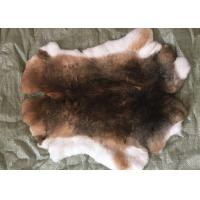 Cheap 30*40cm Rex Rabbit Fur Skins Warm Soft , Chinchilla Rex Fur With Natural / Dyed for sale