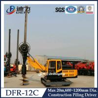 Buy cheap 600-1200mm Diameter Hydraulic Piling Driver Machine DFR-12C with 20m Depth from wholesalers