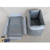 Buy cheap Thermal Insulation Materials Fiberglass Removable Blanket Jacket 250℃ Grey from wholesalers
