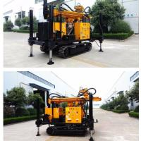 Best 200m Depth Crawler Track Water Well Drilling Rig With Air Compressor wholesale