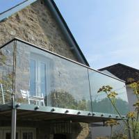 Cheap Outdoor Frameless Balcony Glass Balustrade with Stainless Steel Glass Standoff for sale