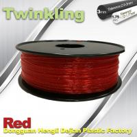 Best Flexible 3D Printer Filament Twinkling 3mm 1.75mm Red Filament 1.3Kg / Roll wholesale