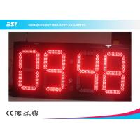 Best Electronic Outdoor Large Led Digital Wall Clock Timer , Waterproof IP67 wholesale