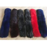 Best Raccoon fur collar Luxurious Ladies Long Dechable Leather Coat Collar 100cm wholesale