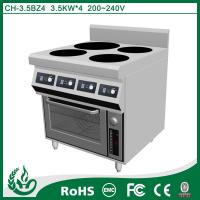 4 plate electric induction cooker with oven