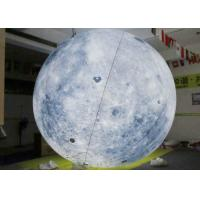 Best Earth Pattern Inflatable LED Balls , 0.2mm PVC Helium Balloons With LED Lights wholesale