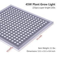 Best IP65 Waterproof Full Spectrum LED Grow Lights Silver Surface Finish , 8MM Thickness wholesale