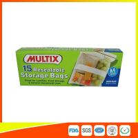 Best Supermarket Plastic Food Storage Bags / Zip Up Storage Bags Resealable Food Safe wholesale