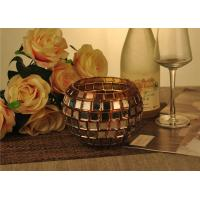 Best Vintage Gold Glass Candle Holder / Candle Cups Shock Resistant With 1119ml wholesale