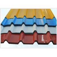 Best Pvc Coated Steel Corrugated Sheet Metal For Roofing , 914-1250mm Width wholesale