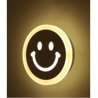 Best Smiling face Acrylic LED wall light /indoor led wall lamp for kids room wholesale