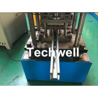 Best Custom Made Sliding Shutter Door Guide Rail Roll Forming Line With Chain Drive wholesale