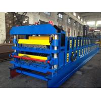 Best 18 Forming Stations Double Layer Roof Tile Roll Forming Machine For Metal Roof Wall Panels Export Russia wholesale