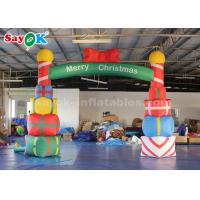 Best 5*4m Inflatable Christmas Arch with Gift Box for Yard Decoration wholesale