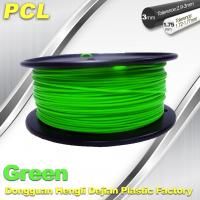 Best Green Low Temperature 3D Printer Filament , 1.75 / 3.0mm PCL Filament wholesale