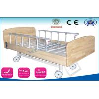 Electric Nursing Beds With Wooden Headboard , Semi Fowler Home Hospital Bed