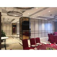 China Melamine Surface Sliding Aluminium Accessories Wall Panels Hotel Acoustic Moving Partition Wall on sale