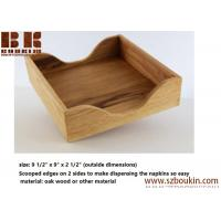 Best FSC varnish oak wood napkin holder tissue box napkin boxes Home hotel restaurant napkin boxes wholesale