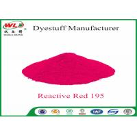 Best Pure Red Clothes Dye C I Red 195 Reactive Red Wbe Powder Dye For Clothes wholesale