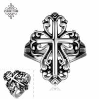 Best Handmade Different Cross Designs Retro New 2015 Stainless Steel Ring wholesale