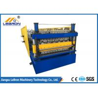 Best New double layer roofing sheet roll forming machine 2018 new type PLC control automatic roll forming wholesale