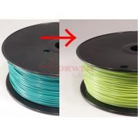 Cheap Blue green to yellow green Color Changing Filament Material , 3MM PLA Filament for sale