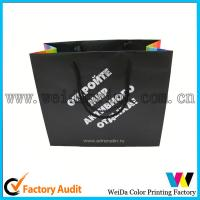 China Fashion Low Cost Kraft Printed Paper Shopping Bags With Handles on sale