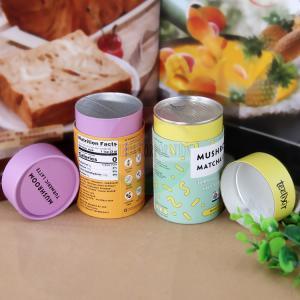 Best Custom Logo Printing Easy Open End Lid Box Paper Tube For Tea wholesale