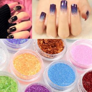 Best Tiny PET Glitter Powder Hexagonal For Nail Art Acrylic Tips Decoration wholesale