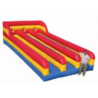 Best Three Lanes Inflatable Sports Toys Bungee Run Abrasion Resistance For Kids And Adults wholesale