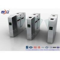 Best Metal Security Flap Barrier Gate 304 SS Access Control System With Fingerprint wholesale