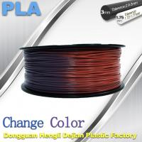 Best Variable Temperature 3D Printer PLA Color Changing Filament 1.75 / 3.0mm wholesale