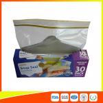 Best Supermarket Reuseable Plastic Clear Sandwich Bags Zipper Top 22 * 25cm wholesale