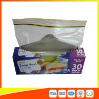 Best Supermarket Reuseable Plastic Clear Sandwich Bags Zipper Top 22 * 25cm wholesale