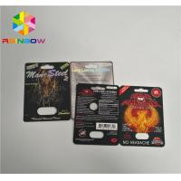 Best 3d Rhino Blister Card Plastic Blister Packaging Display Box For Capsules Sex Pills wholesale