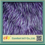 Best Polychrome Long Pile Artificial Fur  / Jacquard Faux  Fur Fabric For Garmant Toy or Home Textile wholesale