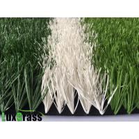 Best double stem Waterproof Smooth Surface Soccer Artificial Grass PP + Net +SBR Latex Backing Material wholesale