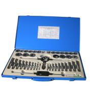 China 45 PCS Tin coated Tap and Die Sets with Iron box , Durable Industrial Tool Set on sale