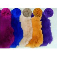 Cheap Coat Lining Accessories Rex Rabbit Skin Smooth Natural Brown Color 25*35cm for sale