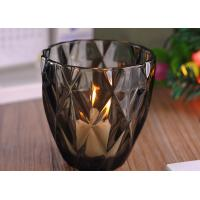 Best Coloring Material Wedding Glass Candle Holder With Diamond Design , eco Friendly wholesale