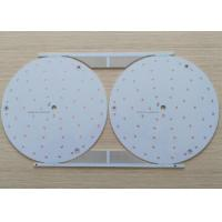 Buy cheap Single layer Aluminum Base LED Light PCB Board HASL LF White Soldmask from wholesalers