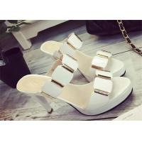 Best Slip On High Heels Sandals , Ladies Dress Sandals With Metal Ornament Strap Upper wholesale