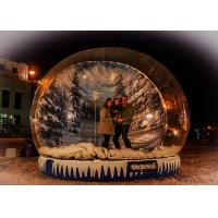Best Xmas Promotion Large Inflatable Globe Fake Snow Type Clear PVC Materials wholesale