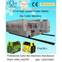 China Rotary Die Cutter Automatic Cartoning Machine , High Speed Printing Slotting Machine on sale