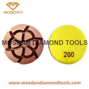 Best 3'' Hybrid Copper Bond Polishing Pads 12mm Thick  for Concrete Floor wholesale