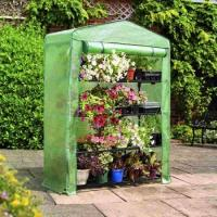 Best PE Mesh Cover Walk In Greenhouse / Customized Small Garden House No Tools Needls 145*143*195CM 140gsm lined PE wholesale